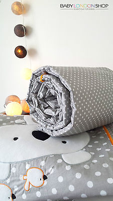 BABY PRAM COT BEDDING SET PILLOW AND BLANKET FLEECE GINGHAM EMBROIDERED UNISEX