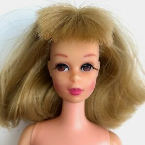 Vintage-1960s-FRANCIE-Doll-Rooted-Eye-lashes-Bend-Leg-Mattel-1965-Made-in-Japan