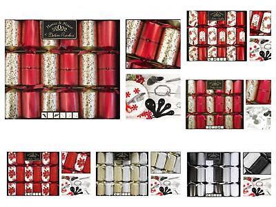 Harvey & Mason 6 Pack 14 \ Deluxe Lusso Squisiti Cena Di Natale Cracker Natale- Moda Attraente