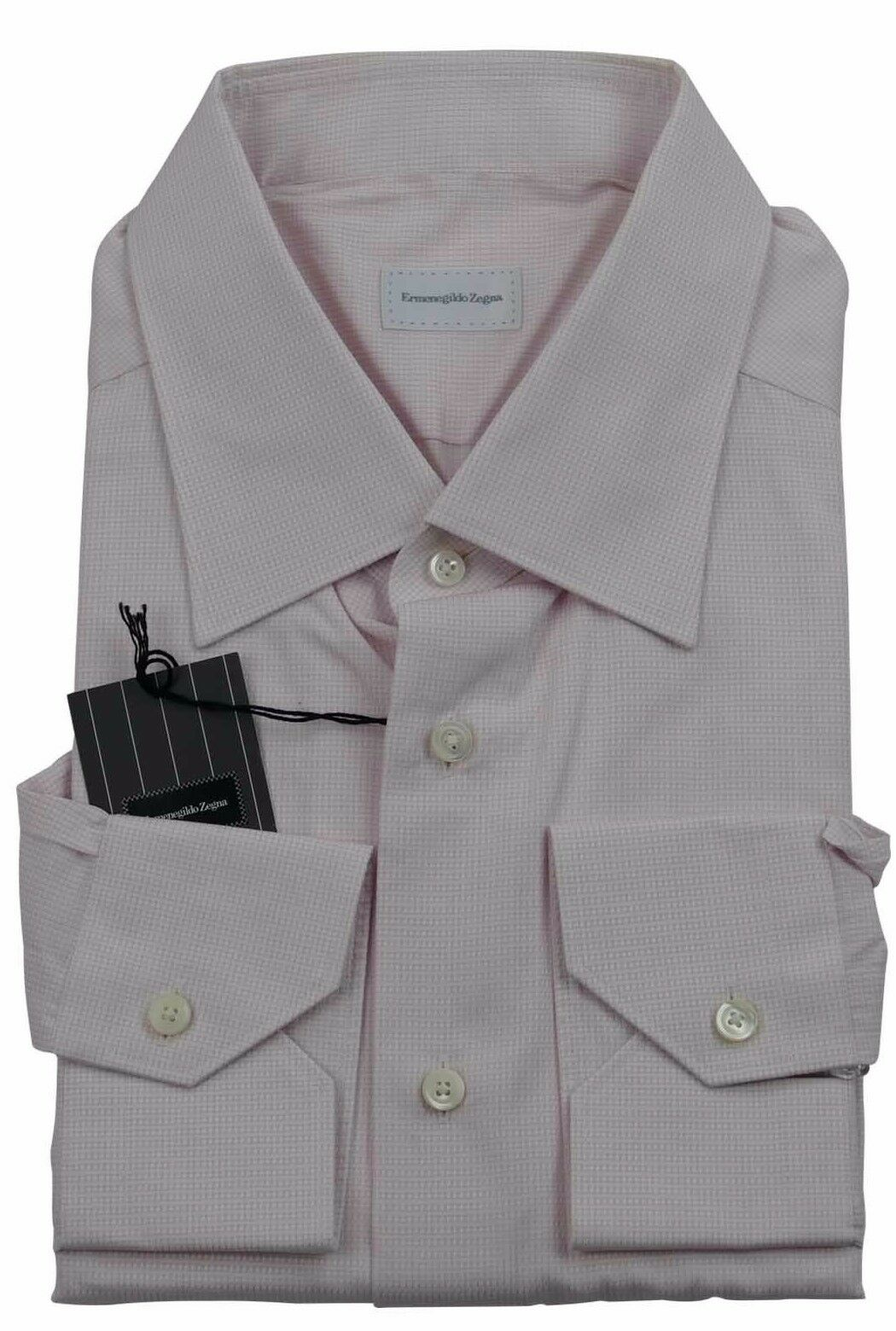 Ermenegildo Zegna rosa Self-Check Camicia Made in