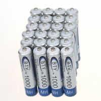 Lot of 24PC BTY AAA 1000mAh 1.2V Ni-MH Rechargeable battery Cell for MP3 RC Toys