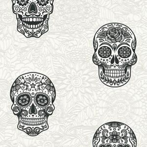 Details About Black And White Skulls Wallpaper Paste The Wall Decorated Skull Design 35817 1