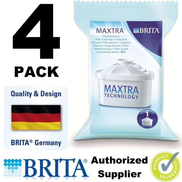 4 PACK BRITA MAXTRA New Water Filter Jug Refills Genuine Replacement Cartridges