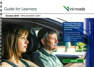 VIC ROADS LEARNER HOURS LOG BOOK + GUIDE FOR LEARNER REPLACEMENT COPY 2019 OCT