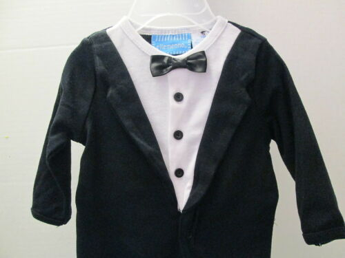 Black and White Tuxedo Style Footed Lounger NWT Size 3 Months and 9 Months