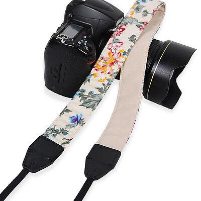 Womens Floral Camera Shoulder Strap Ethnic Neck Belt For SLR DSLR Nikon Canon