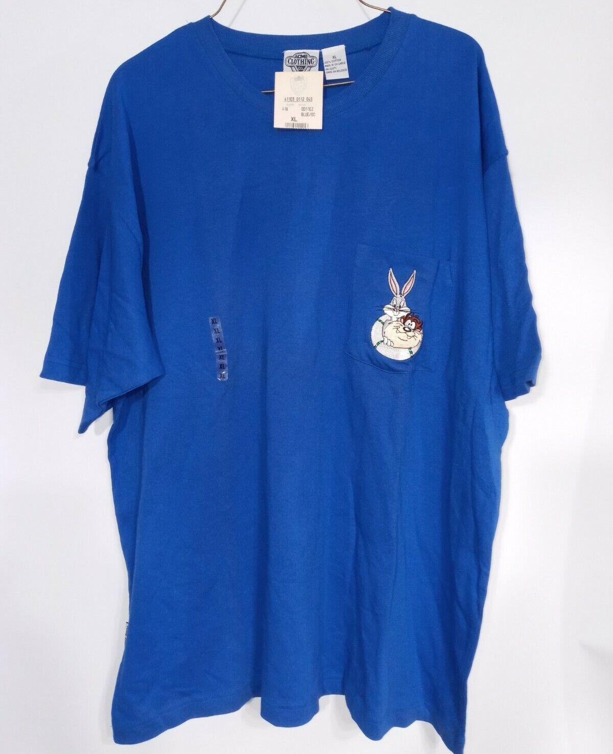 Vintage Acme Clothing Co. Blue T-Shirt Buggs Bunny & Taz, XL