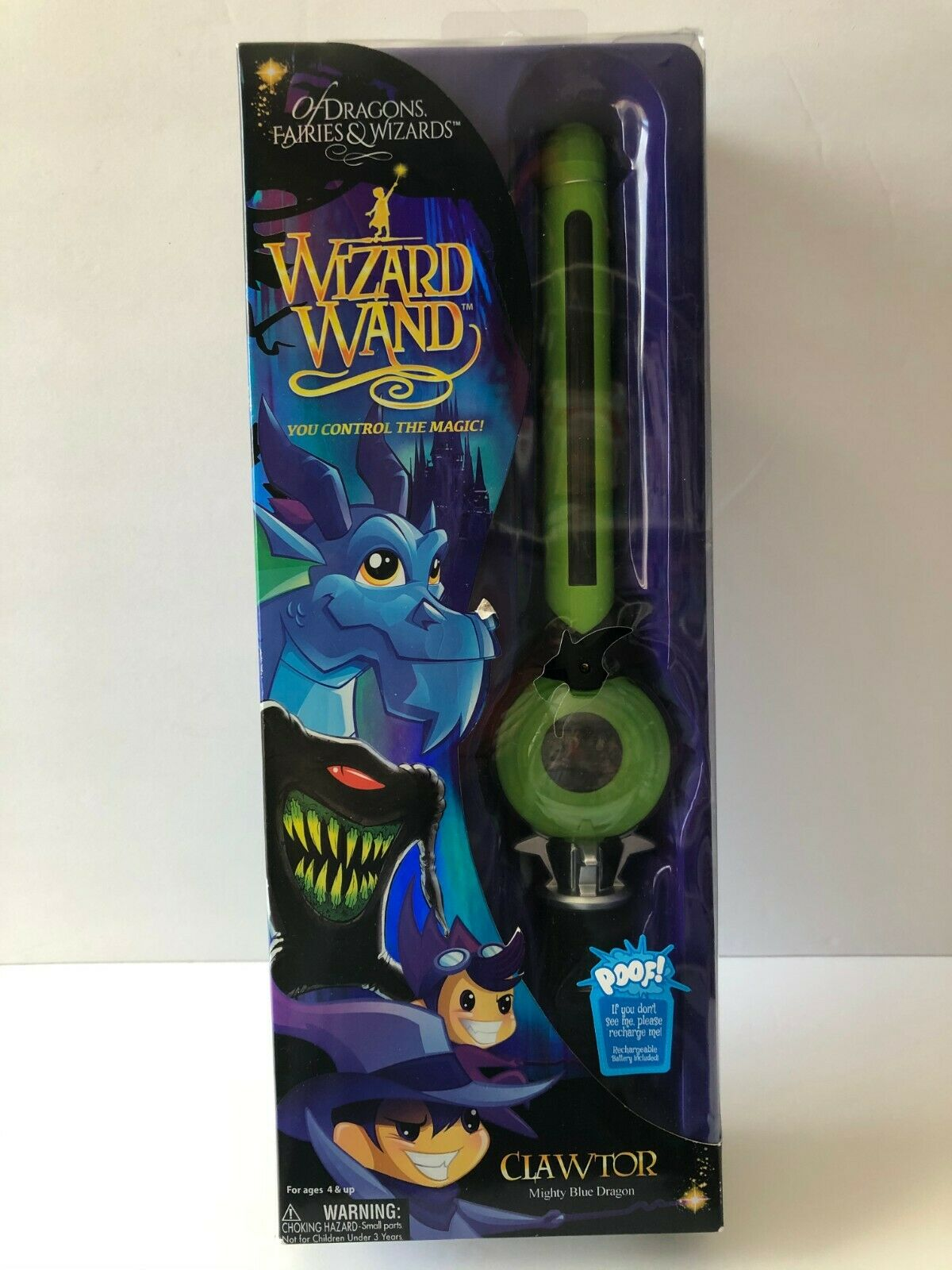 Of Dragons Fairies /& Wizards Wizard Wand Clawtor Mighty Green Dragon