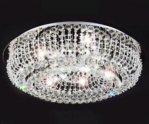 Led Kristall Kronleuchter ~ Xl led luxus kristall wohnzimmer decken leuchte lüster