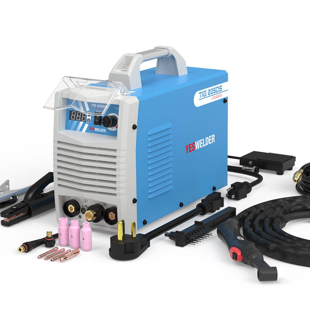 TIG-205DS weld_mart 205 Amp HF TIG/Stick/Arc TIG Welder 110 /220V Dual Voltage TIG Welding Machine