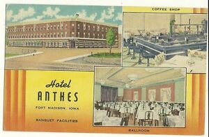 Image Is Loading Hotel Anthes Fort Madison Iowa Ia Motel Postcard