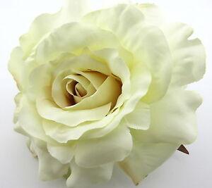 Large 5 cream white rose silk flower brooch pin wedding dance image is loading large 5 034 cream white rose silk flower mightylinksfo