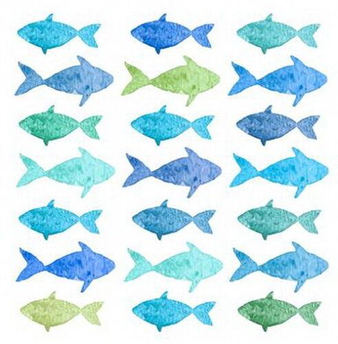 "Fishes/"" Korallen Fische maritim*Fisch Meer 20+20 Servietten /""Aquarell Corals"