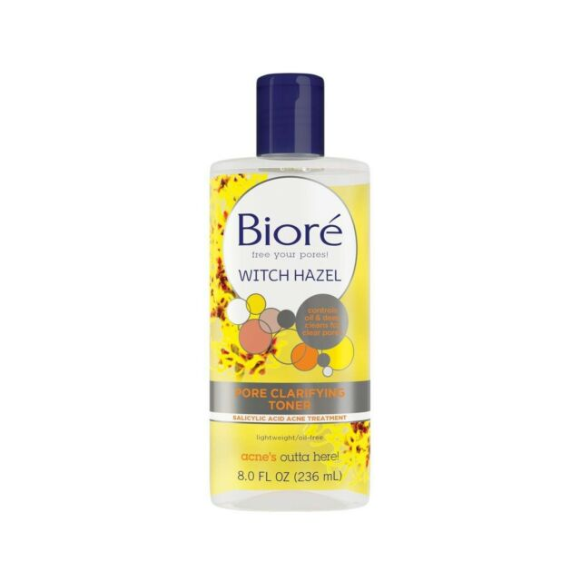 Biore Witch Hazel Clarifying Toner Acid 8 Oz Remove Excess Oil From The  Surface