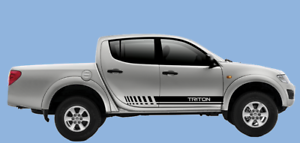 Mitsubishi l200 TRITON side graphics decal kit Stickers Stripes