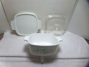 Corning Ware Callaway Ivy 1.5L Casserole  A-1.5-B W/ Pyrex Lid A-7-C and Plastic