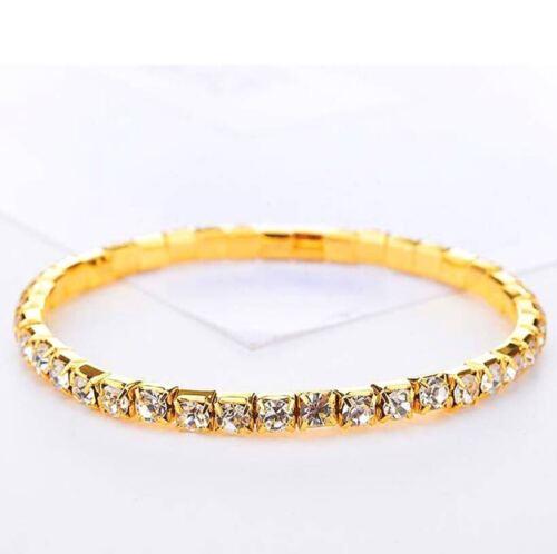 Women Elastic Chain Ankle Bracelet Flash Diamond Crystal Foot Jewelry New