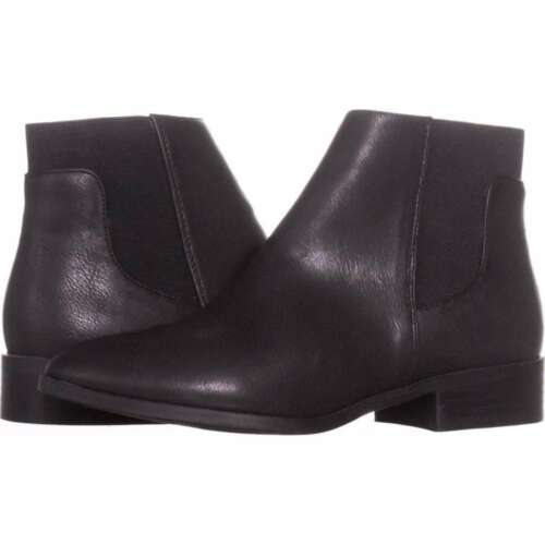 Size 7.5 Black Bar III Womens Gala Almond Toe Ankle Fashion Boots