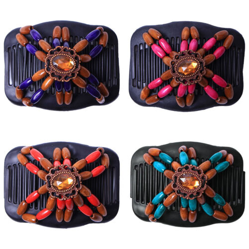 Women Magic Vintage Hair Comb Double Clips Hair Slide Combs Hair Styling Gift