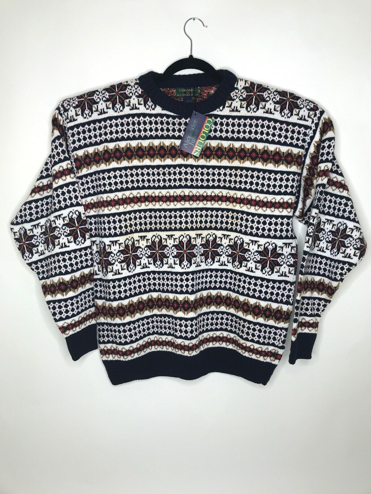 Vintage Colours by Alexander Julian Knit Men's Sweater Size Large NWT