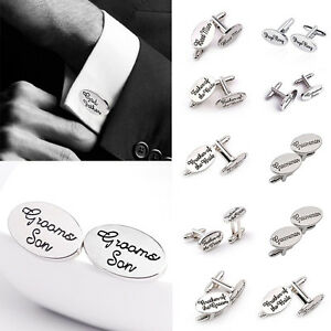 Wedding-Cufflinks-Groom-Best-man-SILVER-cuff-link-usher-pageboy-Brides-Son