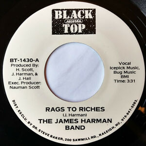 The-James-Harman-Band-Rags-To-Riches-45-RPM-USA-Black-Top-I-Declare
