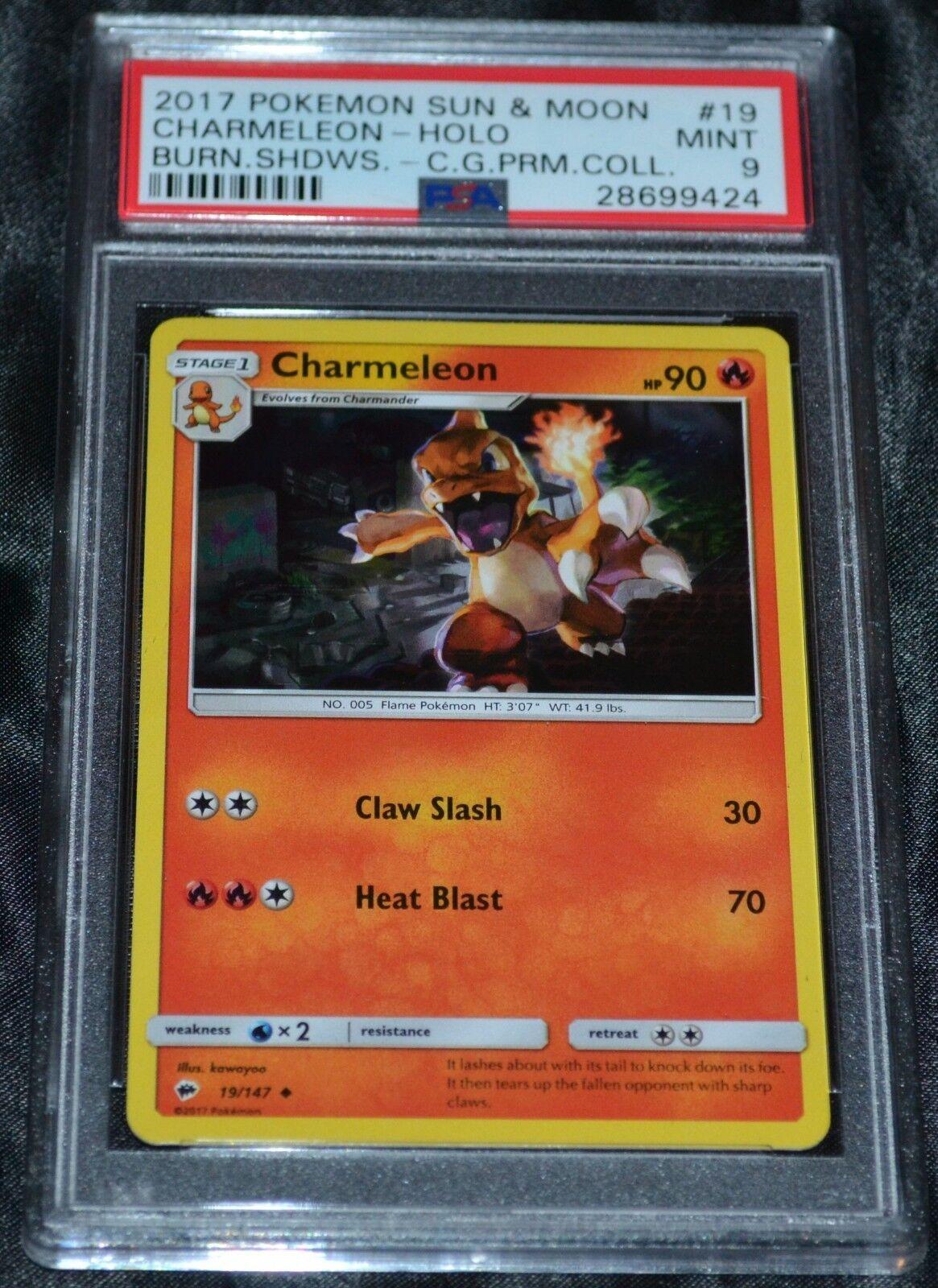 Holo - folie charmeleon charizard erstklassige sammlung set pokémon - karten - psa - 9.