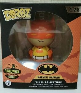 Funko Dorbz Fright Night Exclusive Harvest Batman Orange Halloween Rare LE
