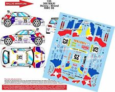 DÉCALS 1/43 réf 135 PEUGEOT 306 Maxi  Henny  / Brand Monte Carlo  1998