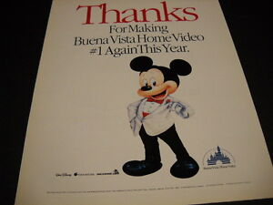 MICKEY MOUSE tuxedo clad thanks to BUENA VISTA 1991 Promo ...