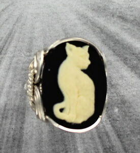 CAT-CAMEO-LARGE-RING-IN-SOLID-925-STERLING-SILVER-SIZE-5-TO-15-WIRE-WRAPPED