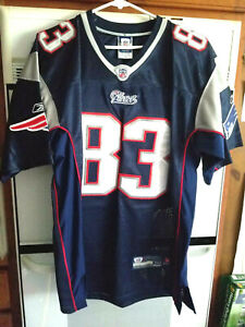 Details about NEW ENGLAND PATRIOTS #83 WES WELKER ON FIELD FOOTBALL JERSEY SIZE 50-NWOT