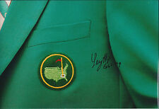 Larry MIZE SIGNED Autograph 12x8 Photo AFTAL COA PGA MASTERS Tour WINNER Golf