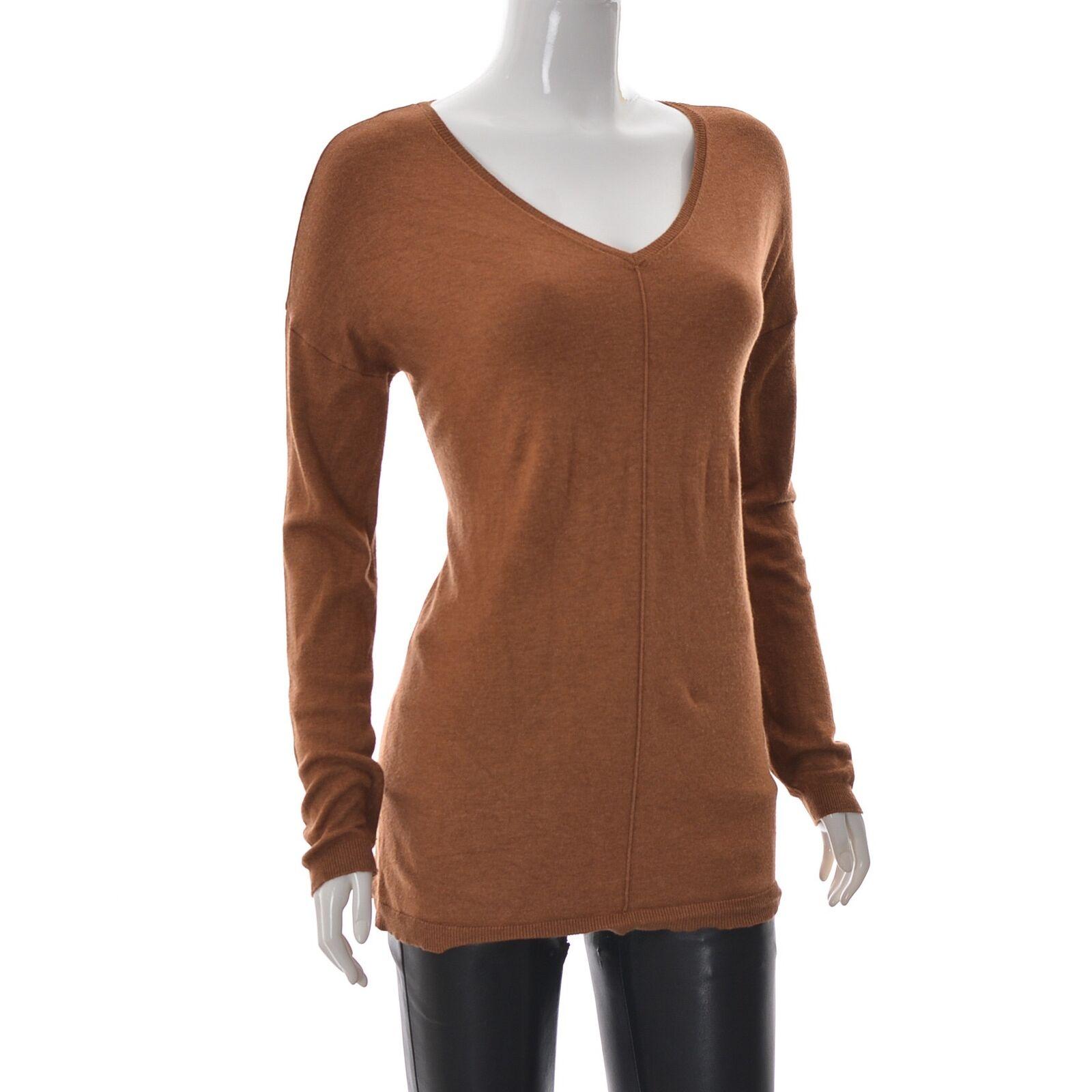 Atmosphere Damen V-Ausschnitt Pullover Tunika Top Hemd Langärmelig Größe EUR-38