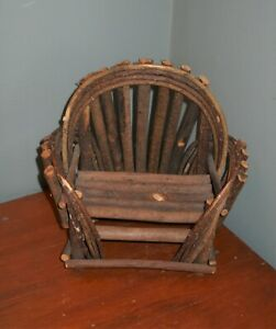 Remarkable Details About Small Miniature Wood Twig Chair Bench Doll Bear Display Primitive Rustic Decor Bralicious Painted Fabric Chair Ideas Braliciousco