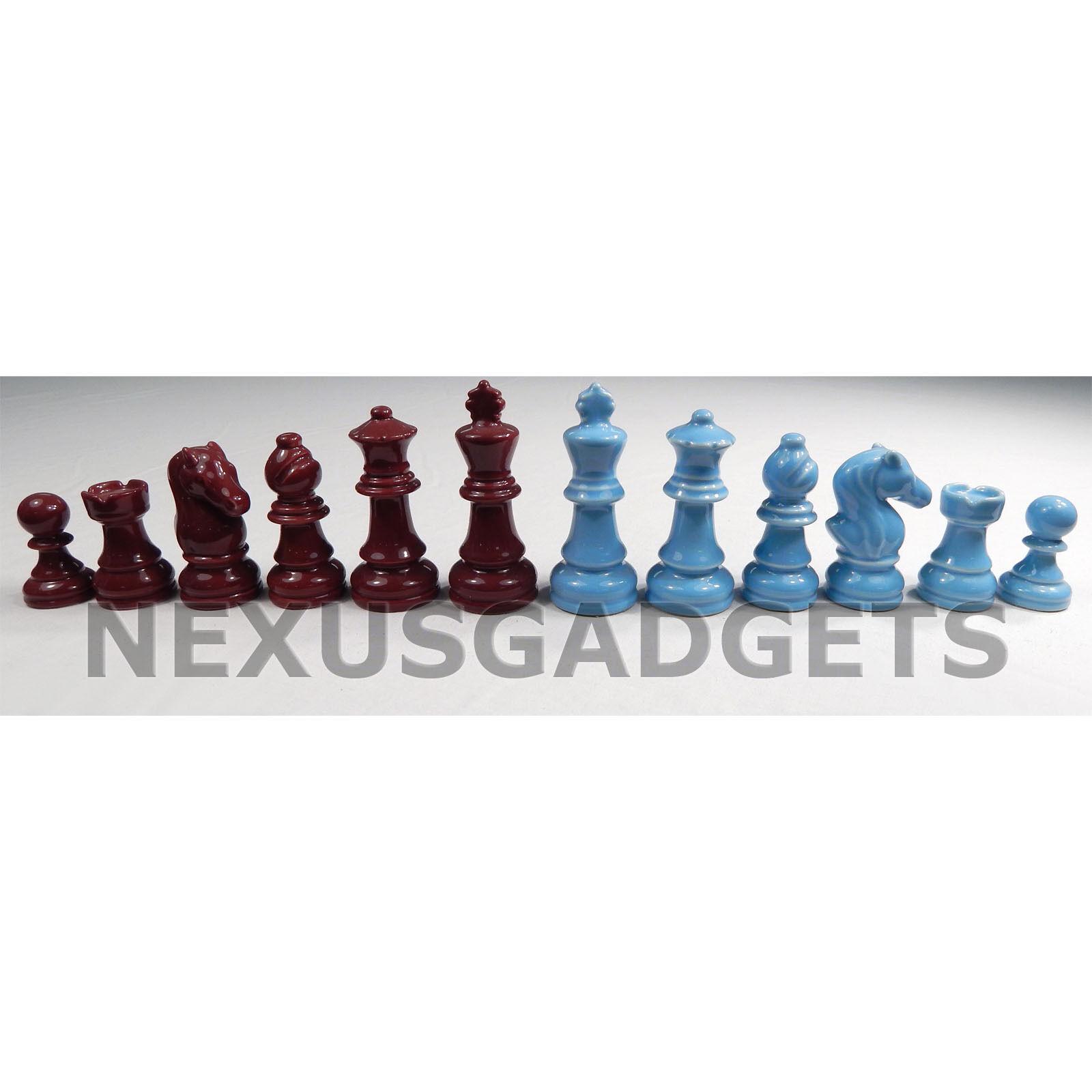 alta calidad general Foz rojo y azul de de de porcelana de 3.5 piezas de ajedrez en King Juego Clásico conjunto no Board  online barato