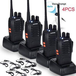 4PCS-Baofeng-BF-888S-UHF-400-470-MHz-2-Way-Ham-Radio-16CH-Walkie-Talkie-with-Mic