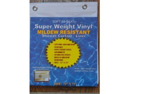 WILL NOT MILDEW HEAVY VINYL SHOWER CURTAIN LINER clear mildew free metal groomet
