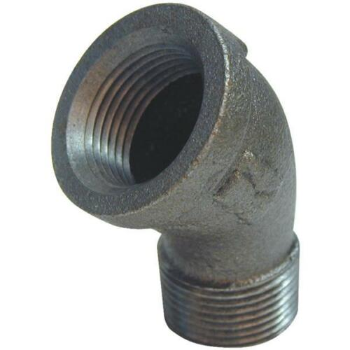"""-45 Degree 3//4/"""" Black Malleable Iron Pipe Fitting Street Elbow 520-504HN 5"""