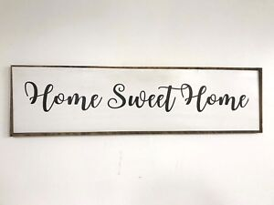 Home Sweet Home Wall Decor.Details About Home Sweet Home Sign Extra Large 4 Feet Sofa Size Wall Decor Fixer Upper Diy