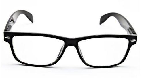 RETRO Thin Nerd Men Women Rectangular Frame Trendy Clear Lens Eye Glasses BLACK