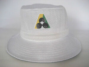 78135b22cc7 Image is loading Avenel-White-Mesh-Lawn-Bowls-Bucket-Hats