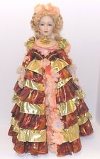 """Treasures Forever Collection Porcelain Doll """"Virginia"""" by William Tung w/Stand"""