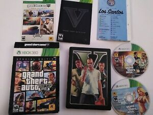 Grand-Theft-Auto-V-Special-Edition-5-GTA-Xbox-360-TESTED-Map-Complete-Collectors