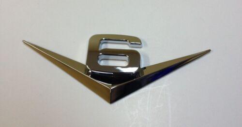 3D V6 LOGO CHROME BADGE ABS EMBLEM CAR AUTO JEEP 4X4  E-1506PS