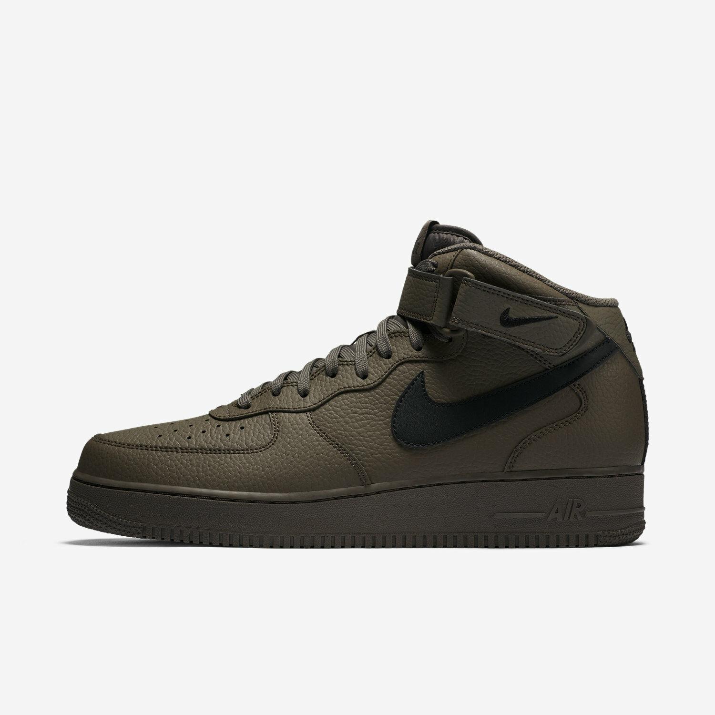 Nike Air Force 1 Mid 07 Men's Basketball shoes, Olive Ridgerock Black 315123-205