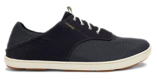 OluKai Mens Shoes Nohea Moku Black Size
