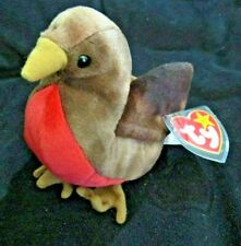 """RETIRED TY Beanie Babies /""""EARLY/"""" the ROBIN Bird MWMTs PERFECT GIFT MINT"""