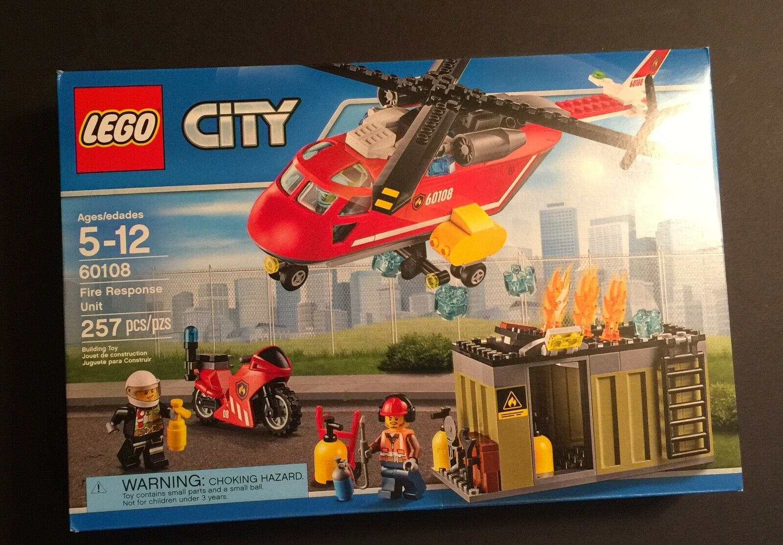 LEGO City Fire Response Unit Unit Unit 60108 Helicopter Motorcycle Building New in Box 751020