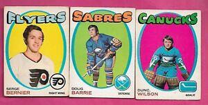 1971-72-OPC-LEAFS-WILSON-RC-SABRES-BARRIE-RC-BERNIER-RC-CARD-INV-J0274